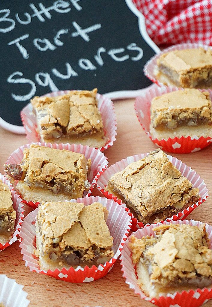 Butter Tart Squares + a giveaway