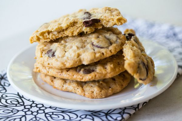 Oatmeal-Dark Chocolate & Coconut Cookies | browneyedbaker.com #recipe