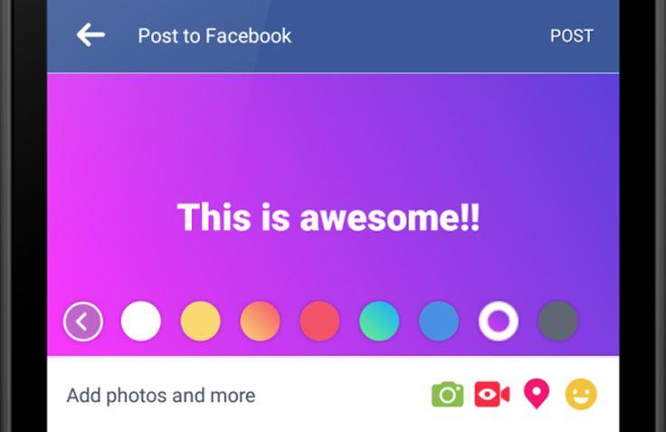 #Facebook'ta metin bazlı paylaşımlara renkli arka planlar geliyor.