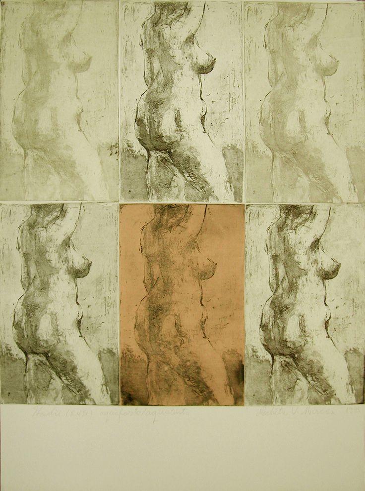 nud.prima gravura, anul 2 grafica.aquaforte si aquatinta