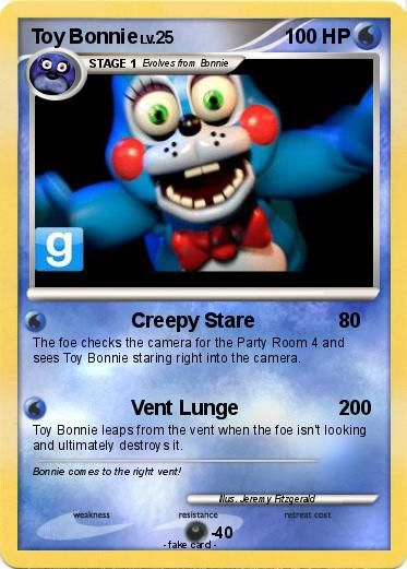 Pokémon Toy Bonnie 21 21 - Creepy Stare - My Pokemon Card
