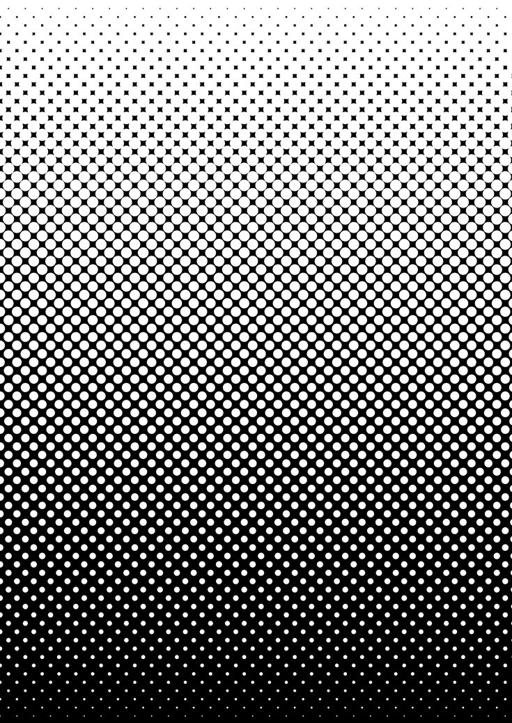Black And White Screen Tone Style Gradient By Mrcentipede