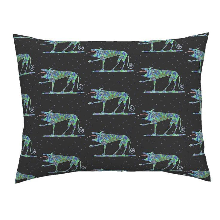 Campine Pillow Sham featuring GREEK WOLF by joancaronil | Roostery Home Decor