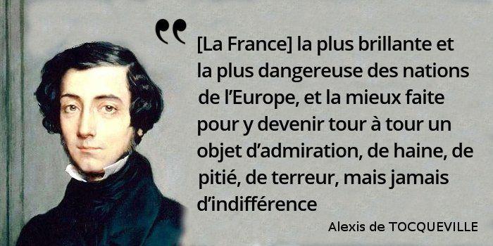 Tocqueville défend ici la politique étrangère de... mais de qui ? #histoire de #France en #citations