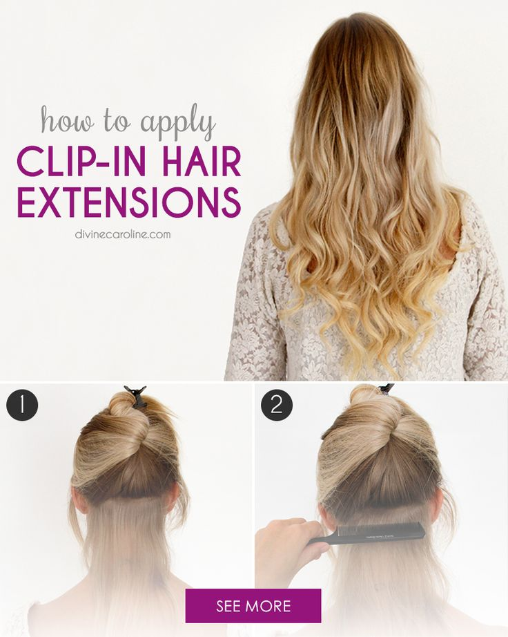 When you have short hair and want to try a more glamorous 'do, clip-in hair extensions are a quick solution to give you more length and body. Here's how to use them. #Extensions #Hairstyles