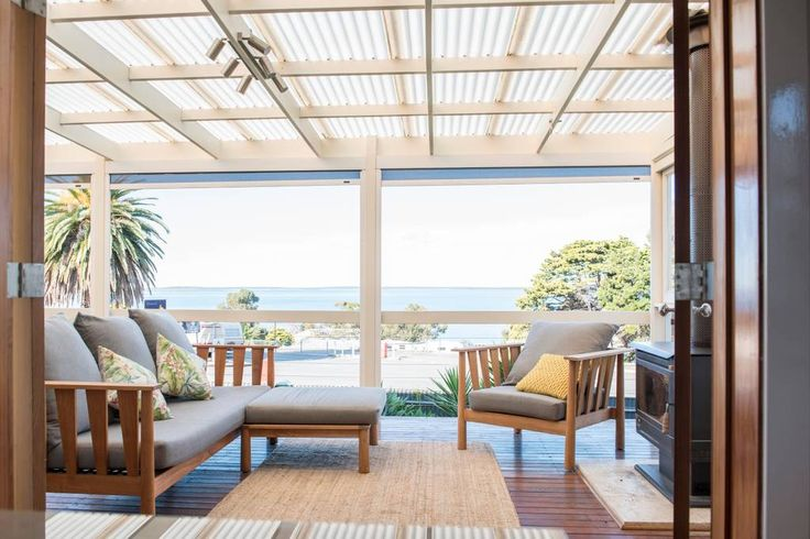 Entire home/apt in Port Lincoln, AU. Newly renovated, open floor plan, seaside home. Wake up to the ocean views, over looking Boston Bay, characterised by the Chestnut timber floors, fire places, oversized bathtub, well equipped kitchen full of natural character. From the deck sit ba...