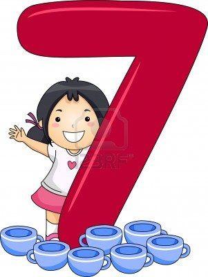 Okul öncesi sayılar 7 rakamı