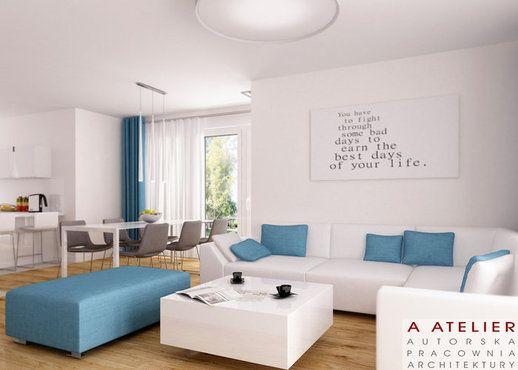 #projekt #wnetrz #interior #modern #blue Blue is the Warmest Colour, A Atelier https://www.domowy.pl/projekty-wnetrz/salon/blue-is-the-warmest-colour-salon-i-jadalnia.html