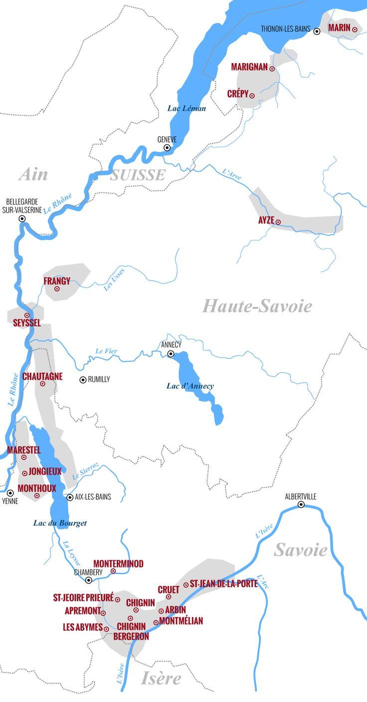 Les 20 dénominations géographiques de Savoie - Vin de Savoie - Maison de la Vigne et du Vin - Apremont - Savoie