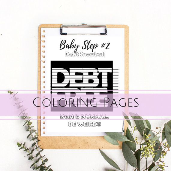 Printable Coloring Page Adult Coloring Page Budget Binder DIY Cash Envelope Printable Cash Budgeting Template Dave Ramsey Debt Snowball
