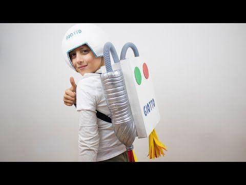 Disfraz de astronauta casero - Manualidades carnaval niños - YouTube