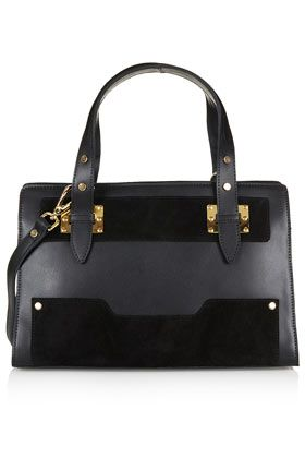 Leather and Suede Plated Tote