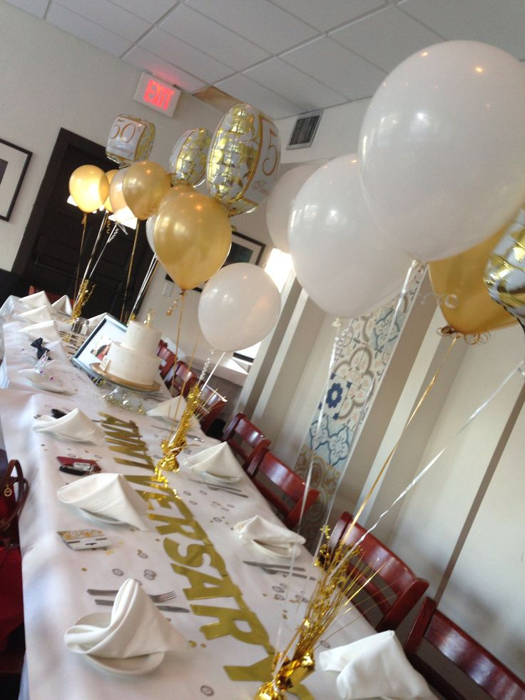 25 best ideas about anniversary surprise on pinterest for Table decoration 50th birthday