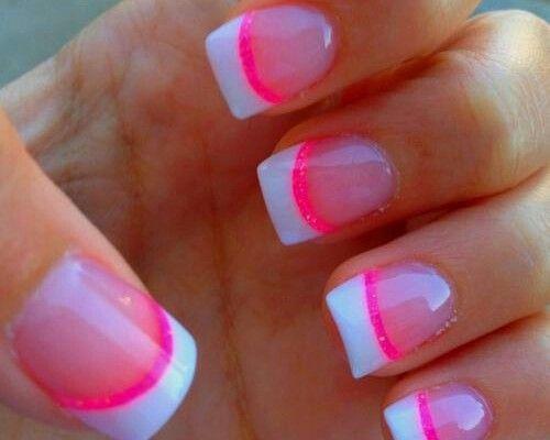 White n lumo pink