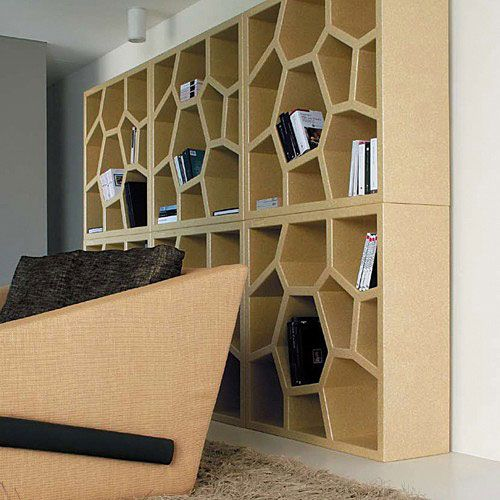 Opus Incertum Bookcase   Contemporary   Bookcases Cabinets And Computer  Armoires   Made In Design ~ Love This Design For Organization.