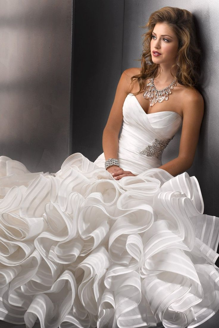 Wedding Dresses, Sweetheart Wedding Dresses, Mermaid Wedding Dresses, Ruffled Wedding Dresses, Hollywood Glam Wedding Dresses, Fashion, white, ivory, Sweetheart, Strapless, Strapless Wedding Dresses, Beading, Floor, Organza, Natural, Ballroom, Ruffles, Tiers, Taffeta, Pleats, Sottero & Midgley, Mermaid/Trumpet, hollywood glam, Beaded Wedding Dresses, organza wedding dresses, taffeta wedding dresses, trumpet wedding dresses, Floor Wedding Dresses, Tiered Wedding Dresses
