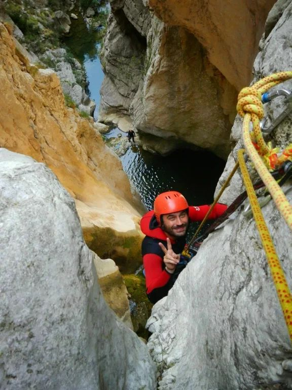 There's only one way down! Canyoning in Montenegro.