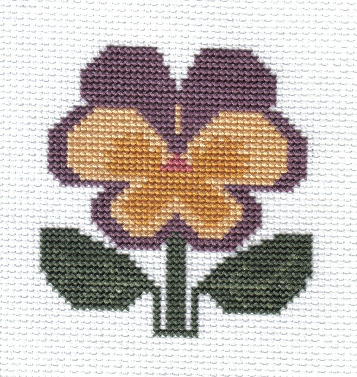 finished completed cross stitch PRAIRIE SCHOOLER garden blooms pansy PREORDER