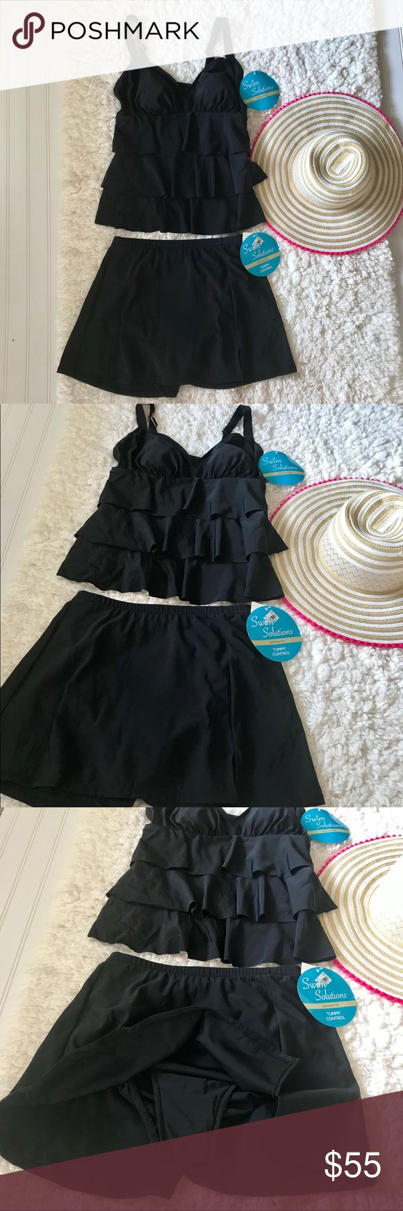 NWT Swim Solutions Tankini Super adorable 2 piece Tankini by Swim Solutions.  Th…