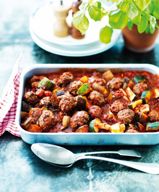 Oven-baked meatballs from Slimming World