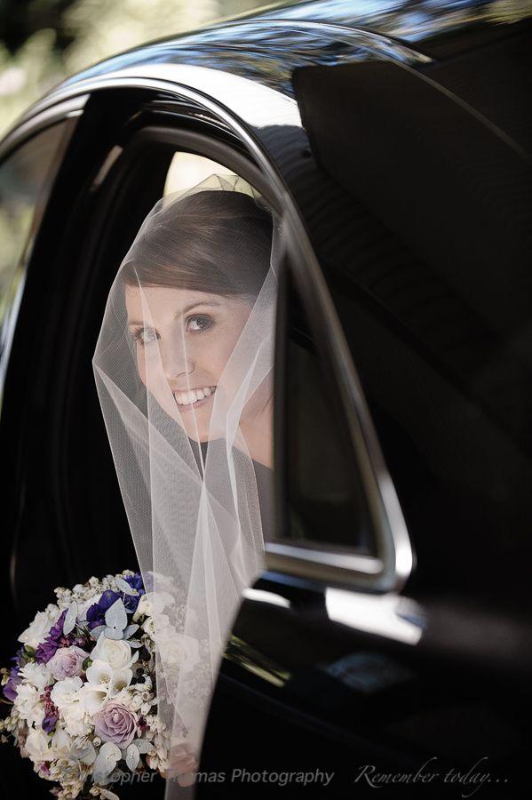 Wedding Photography Brisbane - Bride in wedding car