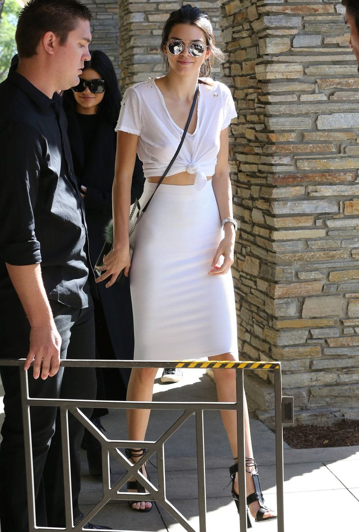 """"""" October 21, 2015 - Arriving at Kim Kardashian's surprise birthday party in Thousand Oaks, CA. """""""