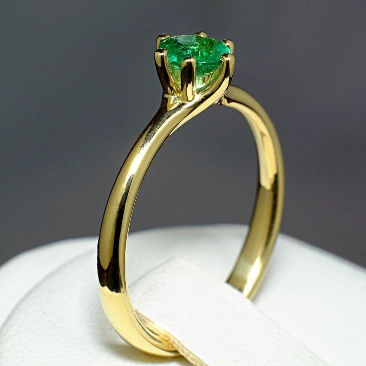 Inel din aur, cu smarald II Cod produs: i122118Sm