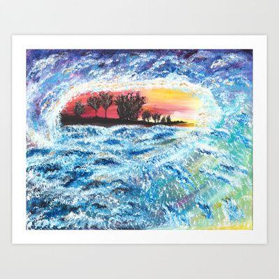 Wave Art Print by Katrina Berkenbosch  - $19.76