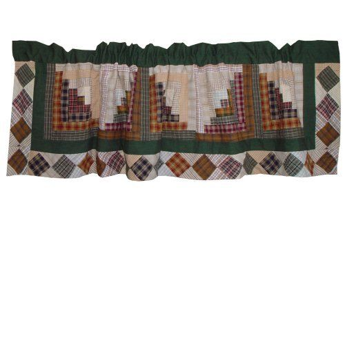 Patch Magic Peasant Log Cabin Curtain Valance, 54-Inch by 16-Inch by Patch Magic. $24.00. Machine washable; Line or Flat dry only. 100-Percent Cotton Curtain Valance 54 by 16. Window Treatments for ensemble and Bedding items from Patch Magic. 100% Cotton. Beautiful patchwork Valance. Honey draining waverly patches. Beautiful patchwork Valance. Window Treatments for ensemble and Bedding items from Patch Magic.