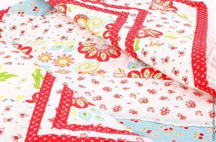 """Детское одеяло для девочки """"Вишенка"""". Печворк - печворк,одеяло детское 1200 грн ($100) #quilt #patchwork #handmade"""