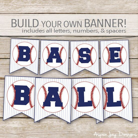 baseball concession banner. Build your own baseball banner! SO CUTE!!!