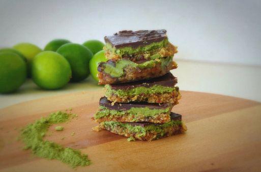Delicious Matcha and Coconut Slice! #healthy #recipe #delicious