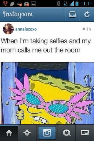 Hahaha cute, teenage girls be like, selfie! Spongebob, relatable posts  #Etsy #Danahm1975 #Jewelry