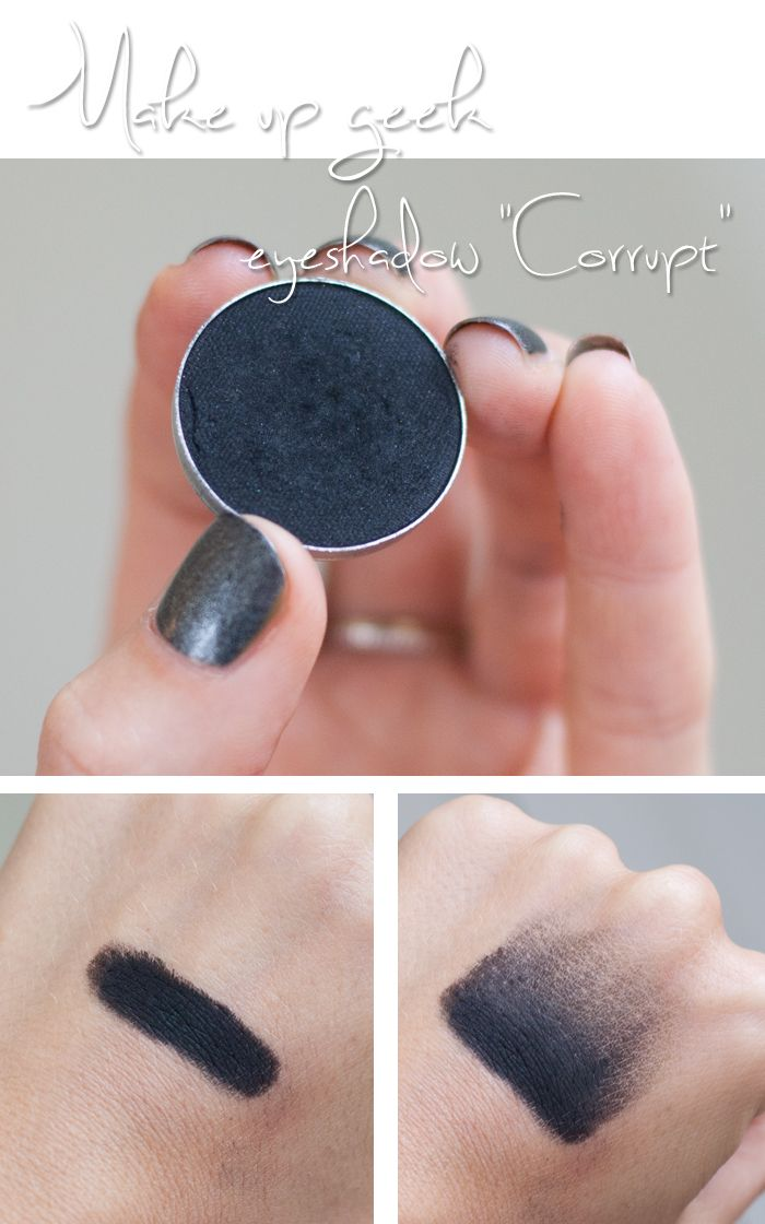 Show your dark side with Makeup Geek's Corrupt Eyeshadow. Shot & swatched by Linda Hallberg.