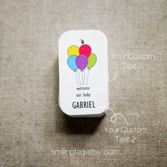 Lets Party Personalized Gift Tags