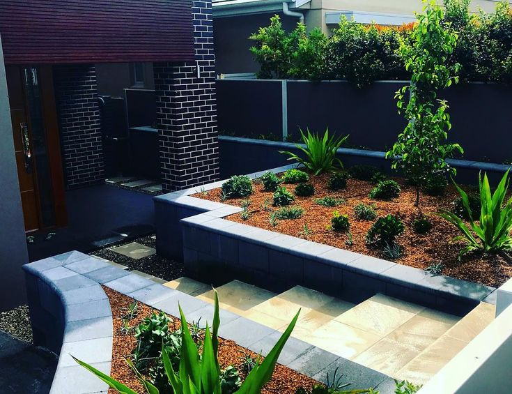 Amber tiles Kellyville: pinned from Instagram (@addonlandscaping): Freestone Eco retaining wall with concrete pavets #retainingwall #freestoneblocks #freestone #concretepavers  #aspenstone #ambertiles #ambertileskellyville