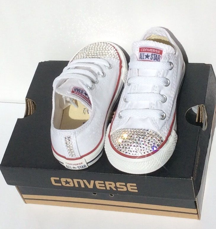 Bedazzled Baby Converse All Stars for Kids!