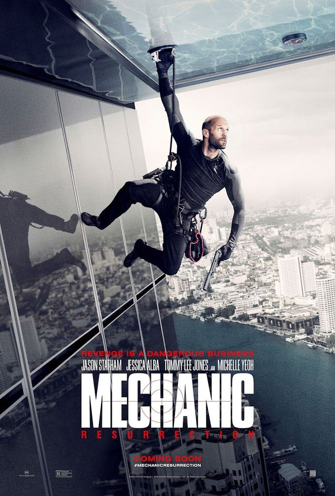 Mechanic: Resurrection (2016) USA Summit / Millennium Action Jason Statham, Jessica Alba, Tommy Lee Jones, Michelle Yeoh. (3/10) 21/12/16