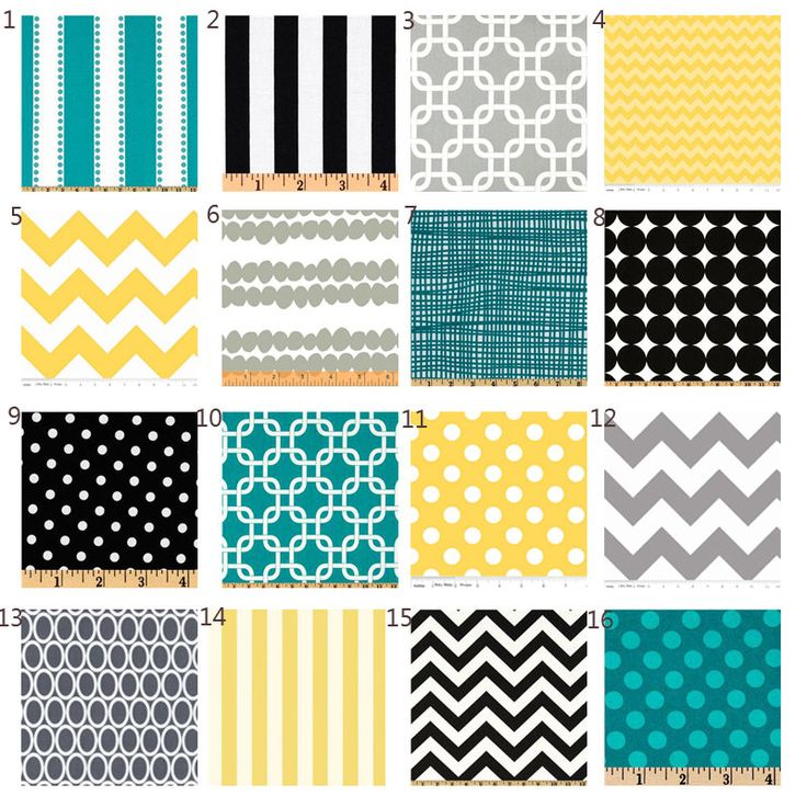 Custom Crib Bedding Yellow Black Turquoise And Grey Baby Bedding Via Etsy Only