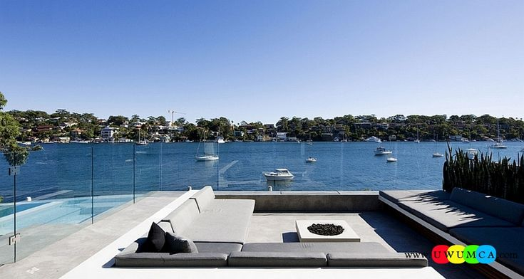 Outdoor / Gardening:Create Outdoor Lounge With Sunken Seating Area Ideas Build Conversation Pits Sunken Sitting Areas In Pool Garden Outside Decor Design Chic Patio With Sunken Seating And Amazing Views Of The Sydney Harbor Elevate The Style Quotient Of Your Outdoor Lounge With Sunken Seating Area