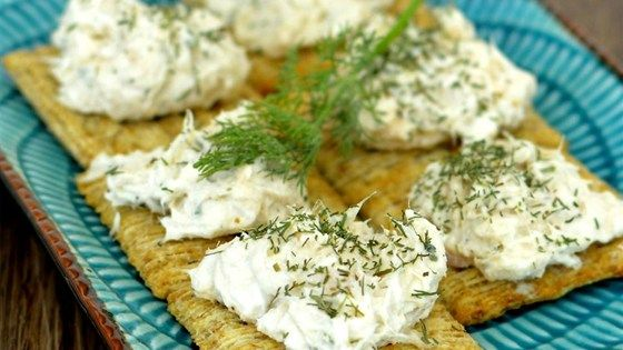 Use canned salmon, softened cream cheese, and sour cream to make this salmon dip seasoned with dill, parsley, garlic, and lemon.