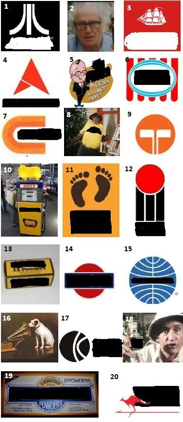 70s BRANDS - Can you name these brands that were seen in Australia in the 70s?