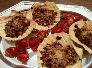Capesante con Frutta secca profumata al Limone e Rosmarino - Scallops with Dried Fruit flavored with Lemon and Rosemary
