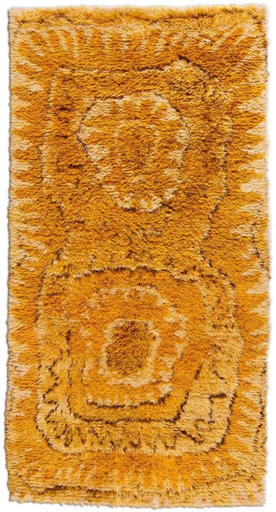 Viola Gråsten, Sunflower Rya Rug, c1950.
