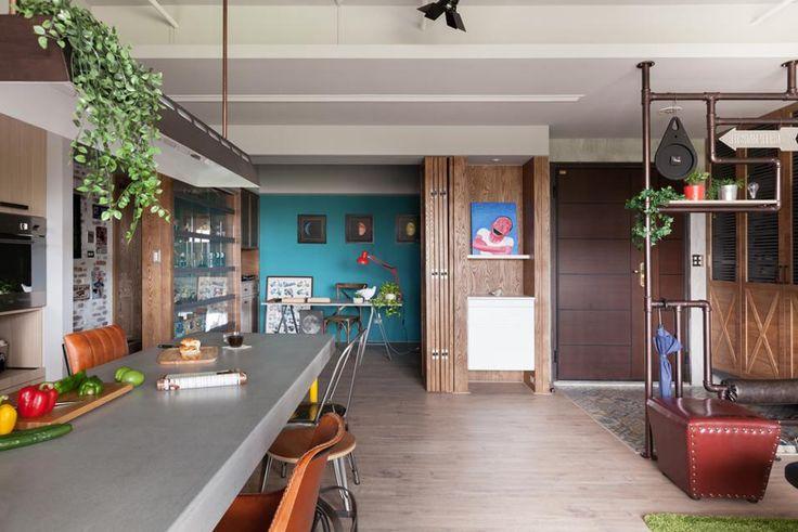 30 idee per il colore pareti del soggiorno – Foto