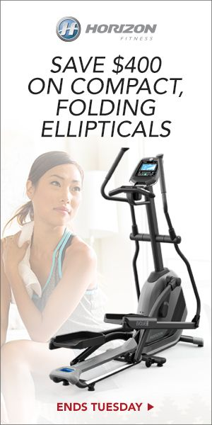 Horizon Fitness : End-of-Season Pricing! Save $400 on Compact, Folding Ellipticals Only at Horizon Fitness! Reduced pricing also includes a home use warranty and free shipping.