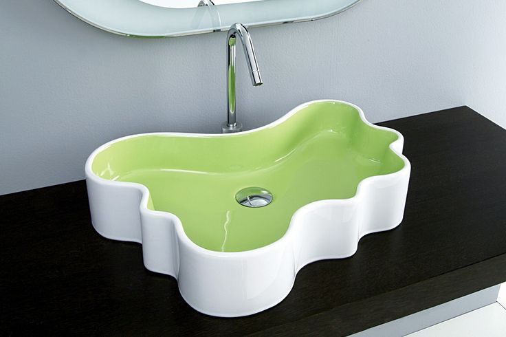 * Minisplash counter wash basin by Disegno Ceramica