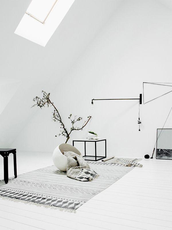 Clean White Minimalist Room House Doctor Rug From Inreda Utreda Photo By Daniella Witte