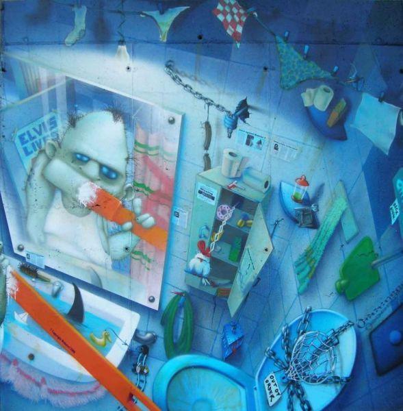 Webster - Characters, tecnica mista e collage, Conegliano (TV), 2009