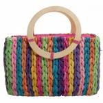 Clad Wood Rainbow Tote Handbag